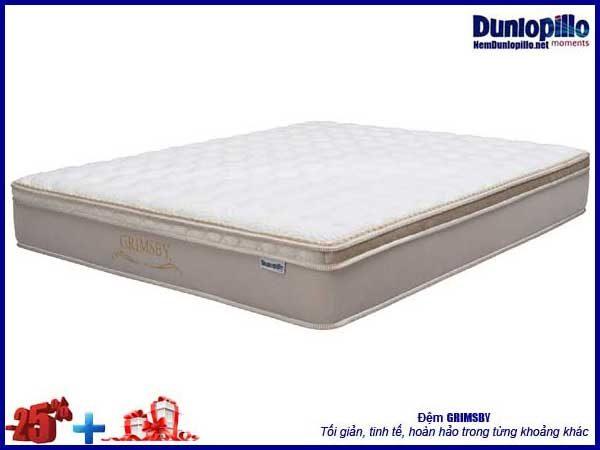 Nệm lò xo Grimsby Dunlopillo khuyến mại 25% kèm quà tặng giá trị