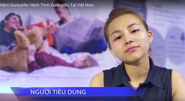 Trà My - khách hàng sử dụng đệm Dunlopillo tại Việt Nam