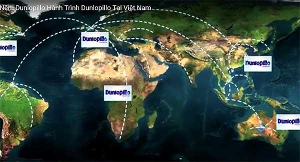 Dunlopillo có mặt hầu hết các nước trên thế giới